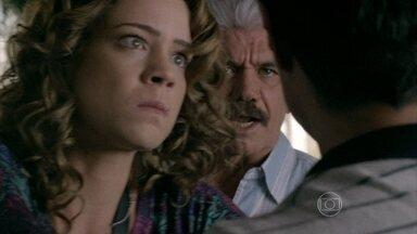 Cristina termina com Fernando e desperta a fúria do ex-noivo - Advogado não aceita o rompimento e promete fazê-la engolir o que disse