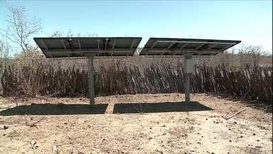 Projeto piloto testa uso da energia solar na irrigação das lavouras no Piauí - A tecnologia ajuda os agricultores a bombear a água de poços até área de plantio.