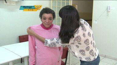 Moda solidária em Cianorte - Alunas do curso de moda fazem pijamas para idosas da cidade.