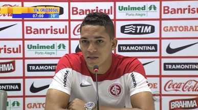 Futebol: Gilberto afirma que Inter busca se manter no G4 - Meta é vencer o Criciúma e o Coritiba no Beira-Rio.