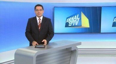 Chamada do Jornal da EPTV Campinas - 24/09/2014 - Jornal da EPTV destaca sujeira e baixo nível do Ribeirão Quilombo, que corta seis cidades da região.