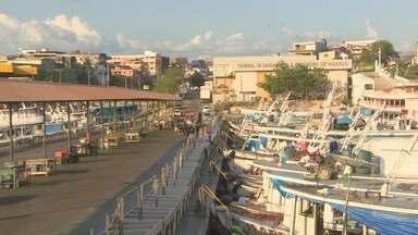 Em Manaus, terminal pesqueiro terá fábrica de gelo - Local funciona com apenas 50% da capacidade; ministério da pesca e aquicultura assumiu a gestão.