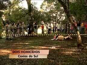 Dois homicídios foram registrados esta manhã em Caxias do Sul, RS - Uma das ocorrência foi no loteamento Vila Amélia, A outra, na represa da Maestra.