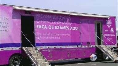 Barretos, SP, tem atividades para mês contra o câncer de mama - Medida visa conscientizar mulheres para a realização do exame.