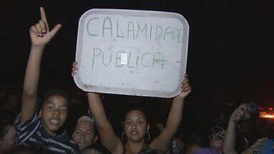 Moradores de Itu, SP, protestam contra a falta de água - Cerca de 300 pessoas se reuniram em dois bairros da cidade.