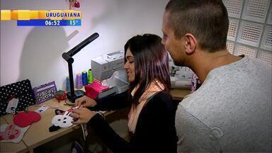 Meu Negócio, Meu Emprego: pedagoga troca a carreira pelo empreendedorismo - Mariana Almerão era pedagoga e montou uma pequena empresa de artesanato.