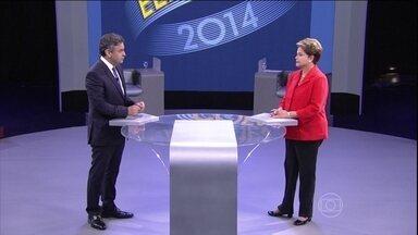 TV Globo promove o último debate antes da eleição presidencial - No último debate antes do segundo turno, os dois candidatos à presidência falaram sobre diversos temas. E puderam esclarecer dúvidas de eleitores indecisos.