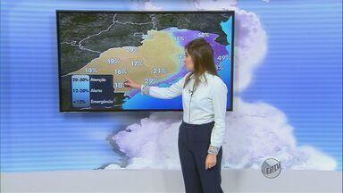 Confira a previsão do tempo desta segunda-feira (27) na região de São Carlos - Confira a previsão do tempo desta segunda-feira (27) na região de São Carlos