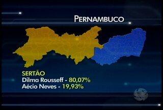 Veja como os leitores pernambucanos votaram para presidente em cada região - No país, Dilma Rousseff teve 51,64% dos votos e Aécio Neves ficou com 48,36%.