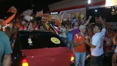 Acompanhe a festa dos eleitores de Ricardo Coutinho em Campina Grande - Festa começou antes mesmo de resultado oficial.