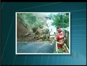 Chuvas intensas em Itaperuna, RJ, deixa ruas alagadas - Chuvas intensas em Itaperuna, RJ, deixa ruas alagadas