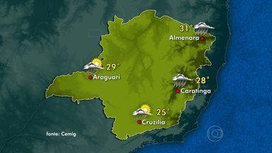 Belo Horizonte pode ter pancadas de chuva - Céu permanece nublado na maior parte de Minas Gerais.