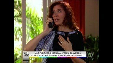 Vídeo Show relembra quadro Teleligado com Lilia Cabral - Atriz conversa com suas personagens pelo orelhão