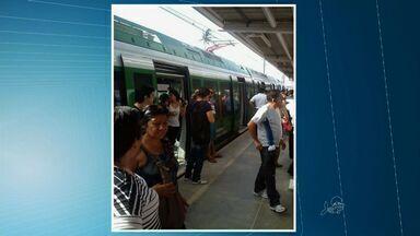 Metrô de Fortaleza apresenta problema mecânico nesta sexta-feira - Problema aconteceu na Estação Aracapé.