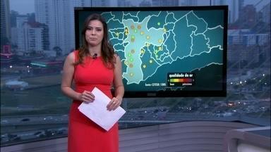Nível do principal conjunto de reservatórios da região metropolitana está em 12,4% - O Centro de Gerenciamento de Emergência registrou à tarde chuvas de forte intensidade sobre alguns reservatórios do Sistema Cantareira, mas de forma muito isolada.