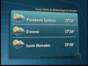 Previsão para este sábado é de tempo instável - Confira como ficam as temperaturas no Oeste Paulista.