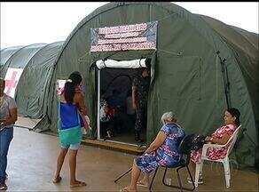 Hospital de campanha do exército deve atender 3 mil pacientes em Palmas - Hospital de campanha do exército deve atender 3 mil pacientes em Palmas