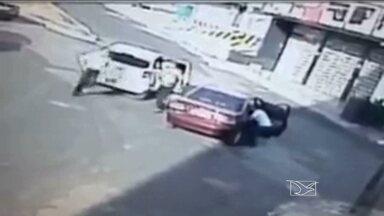Enfermeira é baleada durante briga de trânsito em São Luís - Mulher de 32 anos foi baleada nas costas após batida de trânsito. Homem que efetuou os disparos fugiu do local.