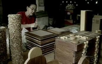 Conheça o trabalho de uma artesã do Noroeste do ES que trabalha com marchetaria - Marchetaria é um artesanato feito com madeira, geralmente com material que seria descartado no lixo.