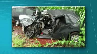 Veja as principais notícias de hoje no Paraná - Duas pessoas ficaram feridas em um acidente na BR-277 em Matelândia.