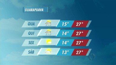 A quinta-feira deve ser chuvosa na região de Guarapuava - O sol até aparece um pouco, mas a instabilidade pode provocar pancadas e até trovoadas em todas as cidades da região.