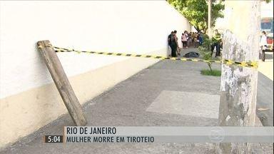 Confronto entre bandidos e policiais termina em tragédia no Rio - uma mulher morreu e um homem ficou ferido durante o tiroteio, no Cajú, zona portuária do Rio de Janeiro.