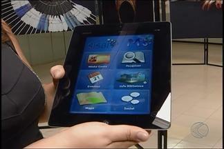 Equipamentos são instalados na biblioteca na UFU - Medida facilita empréstimo e devolução de livros. Um aplicativo usado para identificação dos livros na biblioteca também foi disponibilizado.