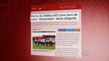 Dirigente alerta para risco de debandada no Atlético-GO - Preocupado com futuro do clube, Adson Batista diz que muitos jogadores podem sair.