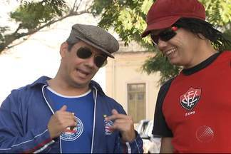 Confira o quadro de Jair e Vicentino desta quarta-feira (3) - Dupla de comediantes interpretam torcedores do Bahia e do Vitória e brincam com a situação dos dois times baianos.