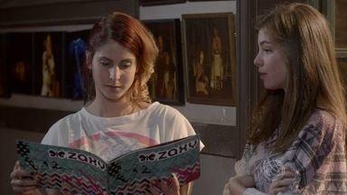 Bárbara repreendeBianca por ter abandonadocarreira - Bianca diz que seu relacionamento com Duca a fez mudar de foco