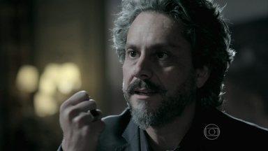 Zé Alfredo revela a Cristina que ela vai assumir a direção da Império - Comendador garante que a decisão que tomou é a melhor para a empresa