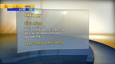 Concurso do CREA oferece 55 vagas no RS - Cargos são para nível médio e superior.