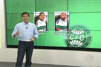 Coritiba deve ter dois desfalques para duelo contra o Bahia - 'Coxa' deve jogar em tom de despedida do meia Alex.