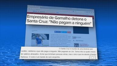Empresário de Leo Gamalho detona o Santa Cruz: 'Não pagam ninguém' - Começa no sábado a segunda edição da Tareco, a Taça das Comunidades.