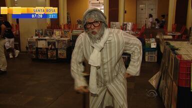 Humor no Bom Dia: idoso Seu Cucar conta piada - Personagem de Lucas Krug conta história para animar manhã de sexta-feira (19).