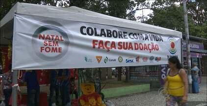 Continua acontecendo a campanha Natal Sem Fome - Há pontos de entrega de alimentos em João Pessoa e Campina Grande.