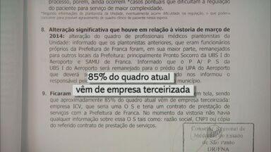 Cremesp constata terceirizados com salários de R$ 80 mil em PS de Franca - Relatório aponta que médicos fizeram 31 plantões de 24 horas em um mês.