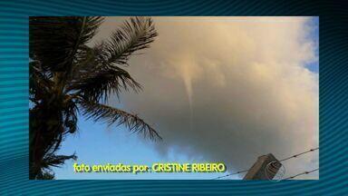Meteorologista confirma a presença de tornado no litoral sergipano - Meteorologista confirma a presença de tornado no litoral sergipano.