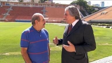 Rivelino relembra injustiça após o Campeonato Paulista de 1974 - Ex-líder de torcida organizada que pediu a saída do jogador do Corinthians se encontrou com ídolo.
