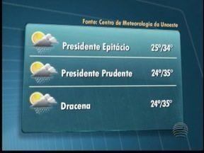 Confira a previsão do tempo para a véspera de Ano Novo na região - Veja as temperaturas para algumas cidades.