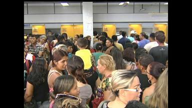 Usuários reclamam de atendimento de agência bancária em Santarém - Falta de dinheiro em caixas eletrônicos foi um dos motivos das reclamações dos usuários.