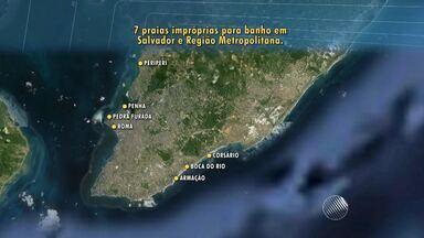 Salvador enfrenta problemas de poluição com esgotos que desaguam em praias - Sete praias ficaram impróprias ao banho durante todo o ano de 2014.