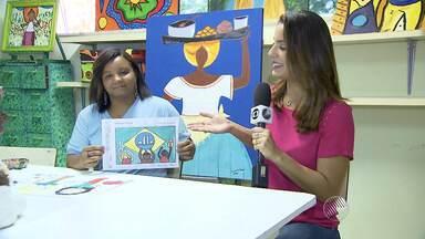 Aluna da Apae, baiana vence concurso nacional de desenho - Conheça a história e a arte da menina Raiane.