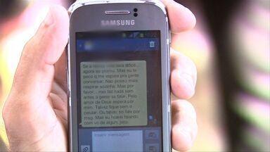 Em coletiva, família de Victor Sores divulga mensagens amorosas enviadas por Sâmia Morais - Família do suspeito reúne provas de que não houve crime, e sim um encontro amoroso.
