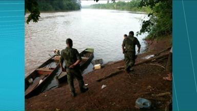 Polícia ambiental prende dois homens por pesca predatória - Polícia ambiental prende dois homens por pesca predatória