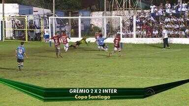 Grêmio e Inter empatam em 2 a 2 pela Copa Santiago - Assista ao vídeo.