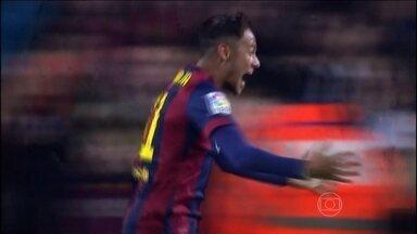 Neymar, Suárez e Messi brilham na vitória do Barcelona sobre o Atlético de Madrid - Neymar, Suarez e Messi brilham na vitória do Barcelona sobre o Atlético de Madrid