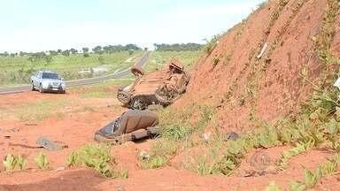 Mulher morre e duas pessoas ficam feridas em acidente na MS-040 - O motorista perdeu a direção quando tentou desviar de uma anta que estava na pista