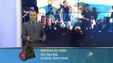"""Veja os ensaios de verão que acontecem em Salvador nesta segunda (12) - """"A Melhor Segunda-feira do Mundo"""", do Harmonia do Samba, vai ser realizada no Wet n'Wild, em Salvador. O Cortejo Afro ensaia no Pelourinho,"""