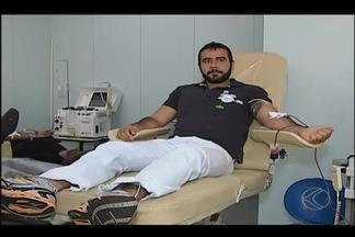 Doação de sangue por aférese pode ajudar Hemocentro de Uberlândia - Segundo coordenador, tipo de doação apresenta vantagens. Hemocentro está com baixa em estoque de alguns tipos de sangue.